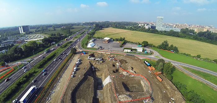 Bonifica - vista dall'alto del sito