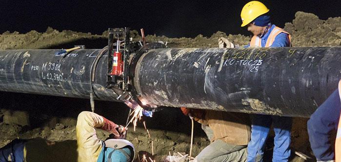 montaggio tubi gasdotti oleodotti